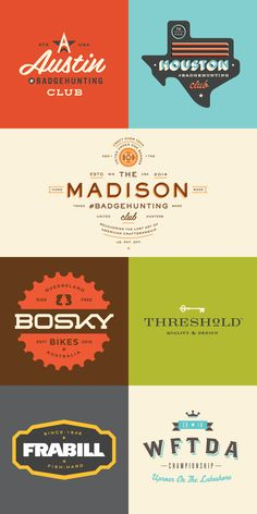 Custom letterings and typography.