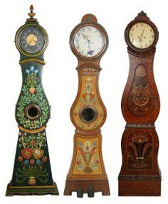 Swedish Mora Folk Art Clocks