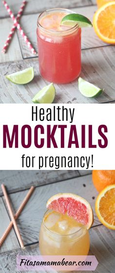 Five Tasty, Healthy Summertime Mocktails For Pregnancy - Fit as a Mama Bear - Use these easy, healthy mocktail recipes to beat the heat during a summer pregnancy! Healthy Pregnancy Snacks, Pregnancy Smoothies, Healthy Snacks, Healthy Recipes, Food For Pregnancy, Healthy Pregnancy Recipes, Baby Pregnancy, Best Mocktails, Healthy Cocktails