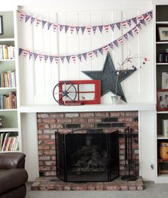 love this idea for the mantel!