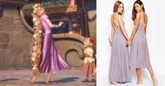 Bridesmaids dresses inspired by Disney characters | Rapunzel | [ https://style.disney.com/news/2016/05/23/bridesmaids-dresses-inspired-by-disney-characters/#asos ]