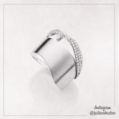 julio okubo diamonds and white gold 18K