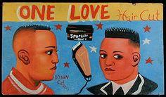 African Barbershop Signs