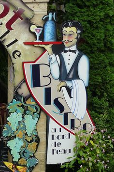 Bistro sign France - Quite the handsome one ^_^ #MissKL and #SpringtimeinParis