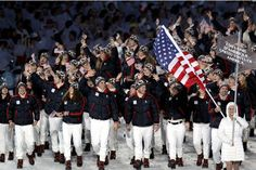 "America has refused the Olympic tradition of dipping its flag to the host country since 1908. Most Olympic teams briefly lower their colors as a sign of respect when they march past the box where the host nation's leaders are seated. The U.S. does not  - and IMHO, we SHOULD. According to popular legend, shotputter Ralph Rose set the tone at the 1908 Summer Games when he supposedly said, ""This flag dips for no earthly king."" (Arrogant fool!)"