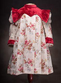 Antique French dress for Jumeau Bru Steiner Eden bebe doll Antique dolls at Respectfulbear.com