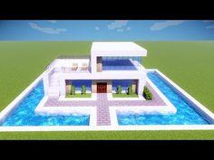 Minecraft Mods, Minecraft Villa, Minecraft Posters, Modern Minecraft Houses, Minecraft Mansion, Minecraft Plans, Amazing Minecraft, Minecraft City, Minecraft Houses Blueprints