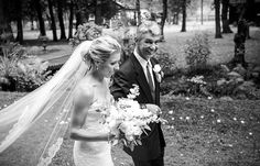 Father giving away bride | Vintage wedding photography | www.newvintagemedia.ca