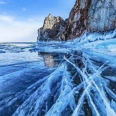 Blue Ice of Lake Baikal