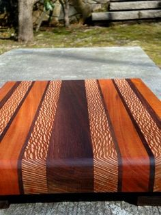 Handmade Large Cutting Board - The Mega - Black Walnut, Mahogany, Lacewood Awesome Woodworking Ideas, Best Woodworking Tools, Cool Woodworking Projects, Woodworking Joints, Woodworking Workshop, Woodworking Furniture, Wood Projects, Woodworking Beginner, Woodworking Organization