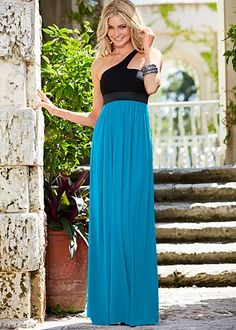 One Shoulder Maxi Dress $39