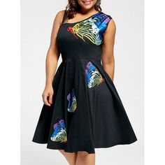 RoseWholesale - Rosewholesale Butterfly Embroidered Sleeveless A Line Plus Size Dress - AdoreWe.com