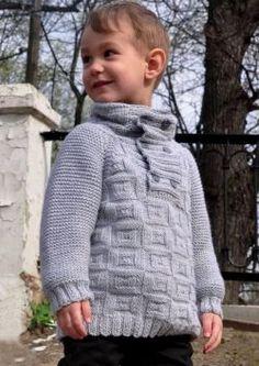 Free Knitting Patterns - Boys' Sweater in Textured Pattern Knitting Patterns Boys, Knitting For Kids, Baby Patterns, Free Knitting, Crochet Patterns, Crochet For Beginners Blanket, Crochet Jacket, Boys Sweaters, Men Sweater