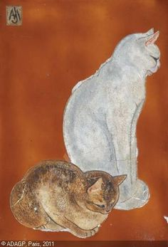 Two Cats   LEHMANN Jacques, NAM, 1881-1974
