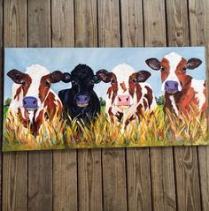 by PaigeBrownArt by PaigeBrownArt Peter Smith Cow art paigebrownart etsy Original art painting 24 x 48 canvas Cow painting nbsp hellip Painting canvas Cow Painting, Painting & Drawing, Painting Canvas, Farm Paintings, Animal Paintings, Cow Pictures, Farm Art, Cow Art, Painting Inspiration