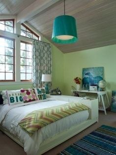 green blue color scheme for teen girls room