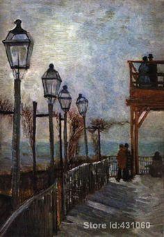 Aliexpress.com: Comprar Vincent Van Gogh art, Montmartre cerca de la superior molino, al óleo reproducción en la lona, alta calidad, hechos a mano de de productos petrolíferos fiable proveedores en Peters Store