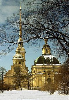 THE ROMANOVS BURIAL PLACE ~ The Peter and Paul Cathedral in St. Petersburg was found by Peter I, in 1708 he made it The Romanov dynasty's mausoleum. So starting himself all Romanovs (except Peter II, whose grave is in Moscow, and Ivan VI) were buried here.