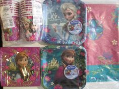 FROZEN Disney Birthday Party Supply for 16 Kit w/ Table Cover