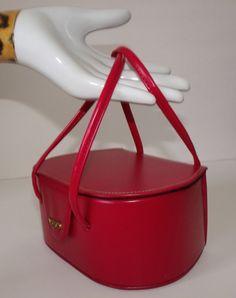 Lipstick RED Pill Box 50s Handbag Purse Vegan. $24.99, via Etsy.