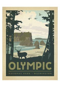 Olympic National Park, Washington Art Print at AllPosters.com