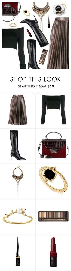 """Outfit of the Day"" by dressedbyrose ❤ liked on Polyvore featuring Roberto Collina, Alexandre Vauthier, David Beauciel, Ganni, Deepa Gurnani, Chantecler, WWAKE, Urban Decay, Christian Louboutin and Bobbi Brown Cosmetics"