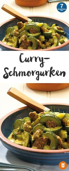 Leckere Curryschmorgurken   4 Portionen, 7 SmartPoints/Portion, Weight Watchers