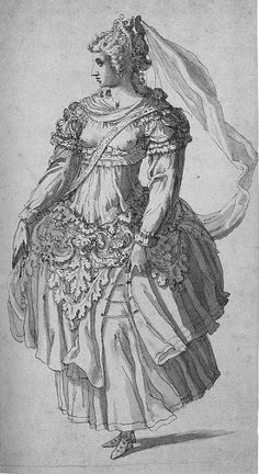 """Costume for Thetys or a nymph from """"Thetys' Festival"""""""
