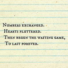 Forever. Love. Wait.