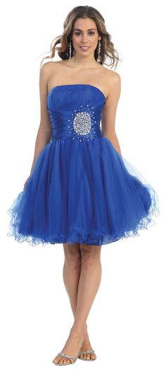 Short Cocktail Tulle Skirt Strapless Prom Formal Dress