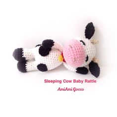 Crochet Baby Rattle Amigurumi Cow Crochet Cow Stuffed Toy Cow Nursely Toy Baby Toy Kawaii Cow Farm Animal Plush Baby Shower Gift Ideas by AmiAmiGocco on Etsy