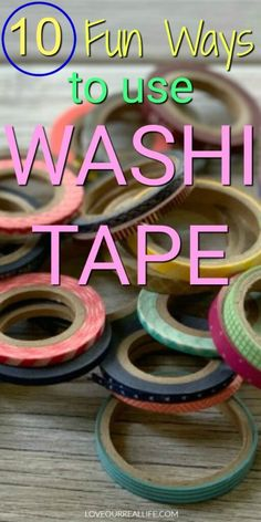 Looking for ideas for using washi tape? Learn fun ways to use washi tape on office supplies and around the home. Get some easy craft ideas your teen or preteen will love! Diy Washi Tape Crafts, Washi Tape Uses, What Is Washi Tape, Masking Tape, Easy Crafts For Teens, Fun Easy Crafts, Summer Crafts, Fun Learning, Making Ideas