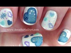 Denim Hearts Nail Art Tutorial on Short Nails  [such a cute idea!]