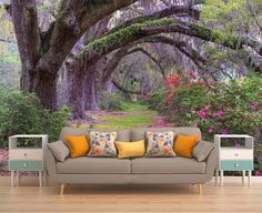 Tree Wallpaper Forest Wallpaper Tree Wall by PhotoDecorByDani