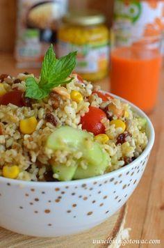 Sałatka z kaszą bulgur Grilling, Grains, Lunch Box, Food And Drink, Rice, Vegan, Vegetables, Cooking, Healthy