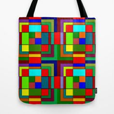 Geometric color Tote Bag by Pedro Vale - $22.00