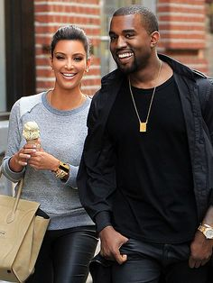 """NEW YORK  Frozen treats aside, things are heating up for Kim Kardashian, 32, and Kanye West, 35, who step out as an item in New York in April, just five months after the reality starlet's 72-day marriage to Kris Humphries came to a close. The couple initially decide to keep their relationship """"light,"""" a source tells PEOPLE. """"They're seeing where it goes."""" Still legally married, Kardashian plays coy, telling the Today show, """"You never know what the future holds."""""""