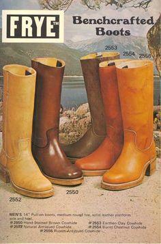 1973 Vintage Frye Boot Catalog