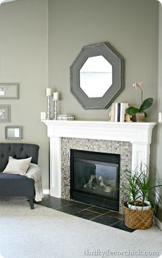 Love fireplaces.. this us very up to dateband pretty... amd j loooove carpet so the tile is perfect