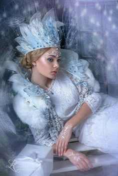 New Fashion Photography Beauty Queens Ideas Fantasy Photography, Beauty Photography, Fashion Photography, Headdress, Headpiece, Ice Queen Costume, Snow Maiden, Snow Fairy, Queen Art