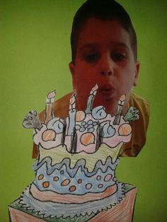 Verjaardagskalender by laurel Primary School, Pre School, School Birthday, Happy Birthday, Birthday Calender, Ronald Mcdonald, Crafts For Kids, Classroom, Teacher
