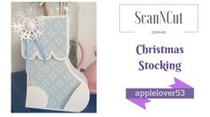 ScanNCut Canvas Christmas Stocking Card