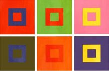 Itten charts, invented by Swiss painter and theorist, Johannes Itten, show how the rapport between one color and another changes the color itself. The visual behaviour of red next to green is not the same as that of the same red next to orange.