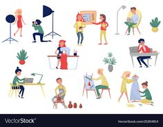 People of different artistic professions vector image on VectorStock Scientist Cartoon, Receptionist Jobs, Airplane Pilot, Working People, Single Image, Different, Business Women, Vector Free, Character Design