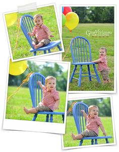 1st birthday photo idea! I can paint my parents outside chairs!