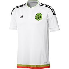 Mexico Away Jersey 2016 in White by Adidas in Mens sizes. 8dd9fb6ba