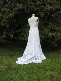 Hippie Lace Collage Gown in White One of a Kind by hippiebride, $1195.00 I love the idea of wearing a gown that is green and someones art.