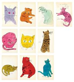 Love the Andy Warhol cats: 25 Cats Named Sam and One Blue Pussy/