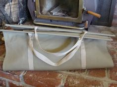 How To Make A Canvas Log Carrier - An Oregon Cottage. Perfect! Gonna make one for Josh!