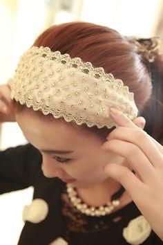 mushroom heiress temperament sunflower Crystal lace-Korean wide hoop hair ornaments Korean Jewelry, Korea Style, Korea Fashion, Hair Ornaments, Very Lovely, Hoop, Stuffed Mushrooms, Fashion Jewelry, Crystals